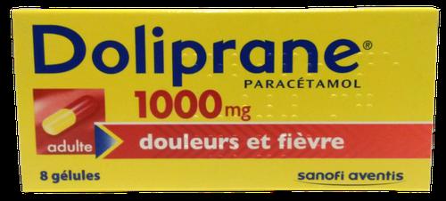 DOLIPRANE 1 000MG 8 GELULES