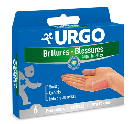 URGO BRULURES 6 PANSEMENTS PM