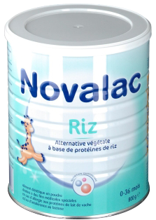 NOVALAC RIZ 0-36MOIS LAIT 800G