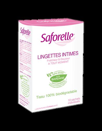 SAFORELLE LINGETTES  INTIMES BOITE DE 10