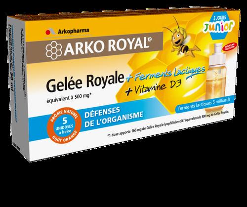 Arkopharma Arko Royal Gelée Royale + Ferments Lactiques + Vitamine D3 Junior 5 Unidoses