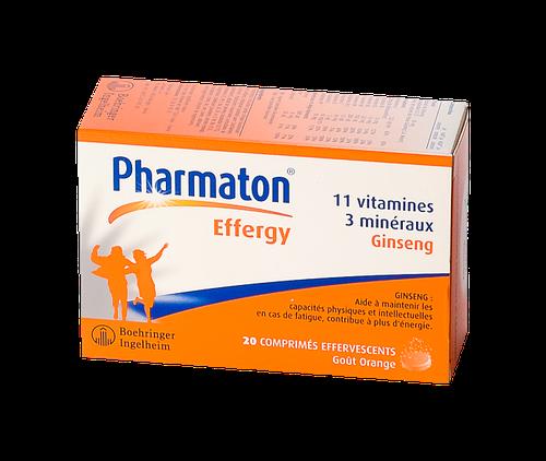 PHARMATON EFFERGY 20 COMPRIMÉS EFFERVESCENTS