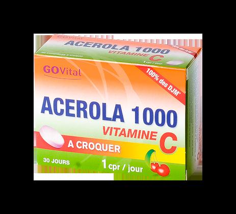 ACEROLA 1000 COMPRIMES A CROQUER 30