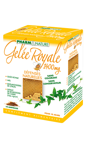 PHARMNATURE GELEE ROYALE 1400mg boîte 10 ampoules