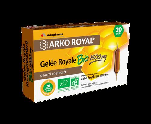 ARKOROYAL GELEE ROYALE BIO 20 AMPOULES 15ML