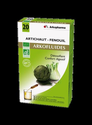 ARKOFLUIDE ARTICHAUT/FENOUIL BIO AMPOULES 20