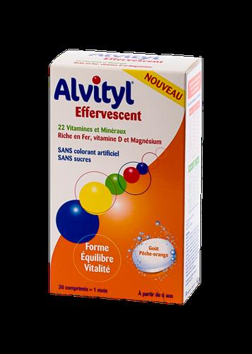 ALVITYL EFFERVESCENTS SANS SUCRE  30 COMPRIMES
