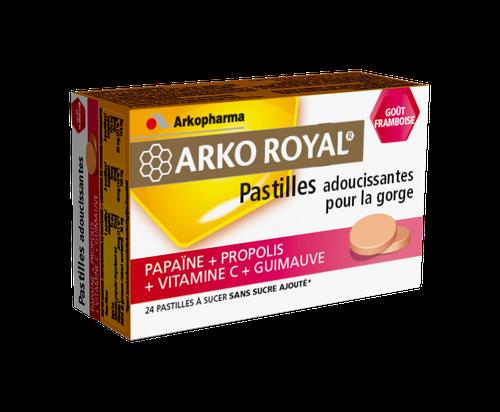 ARKOROYAL PROPOLIS FRAMBOISE 24 PASTILLES