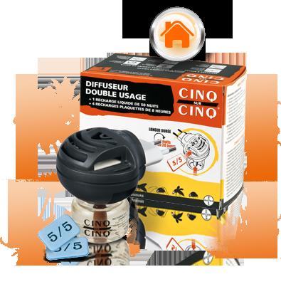 CINQ/CINQ DIFFUSEUR DOUBLE USAGE