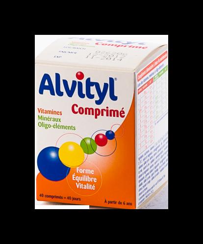 ALVITYL 40 COMPRIMÉS A CROQUER