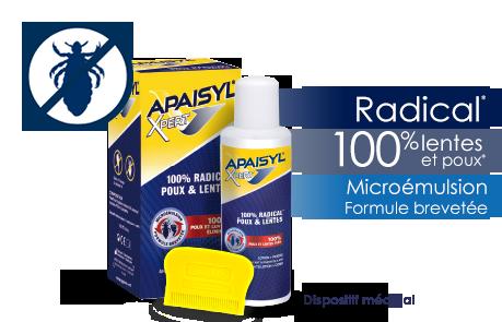 APAISYL XPERT Lotion anti-poux 100ml + peigne