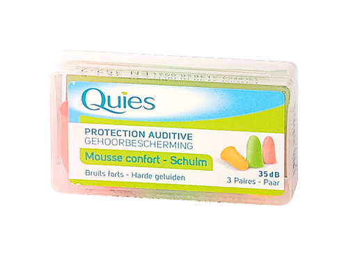 QUIES BOUCH MOUSSE FLUO BTE 3