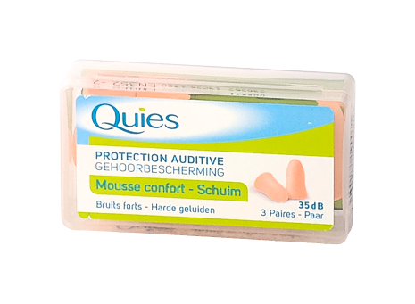 QUIES PROTECTION AUDITIVE MOUSSE CHAIR BOITE 3 PAIRES