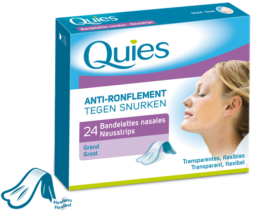QUIES BANDELETTES NASALES ANTI-RONFLEMENT x 24 (GRAND)