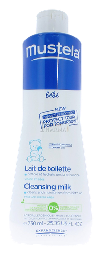 MUSTELA LAIT TOILETTE FLACON 750ML