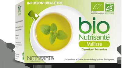 NUTRISANTE INFUSION BIO MELISSE 20 SACHETS