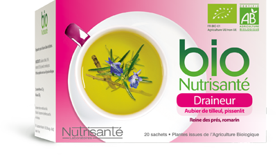 NUTRISANTE INFUSION BIO DRAINEUR 20 SACHETS
