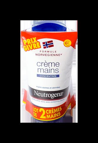 NEUTROGENA Crème concentrée pour les mains, parfumée 2x50ml