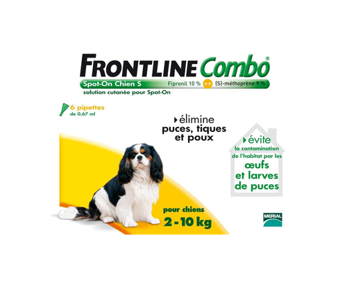 FRONTLINE COMBO CHIEN 2-10KG 6 PIPETTES