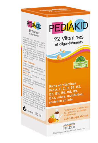 PEDIAKID 22 VITAM/OLIGO SP125ML