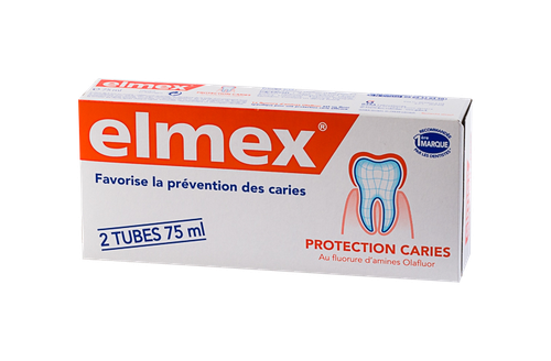 ELMEX PROTECTION CARIES DENTIFRICE 2X75ML