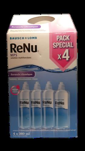 ReNu MPS Solution Multifonctions Formule Classique 360 ml. Pack de 4