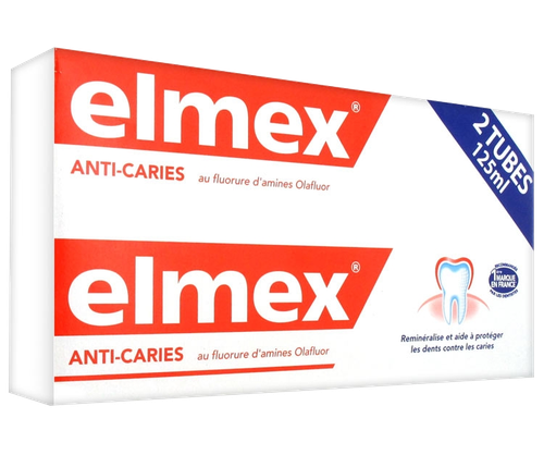 ELMEX DENTIFRICE PROTECTION CARIES LOT2X125ML